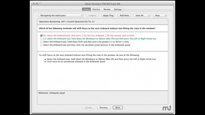Adobe Illustrator CC ACE Exam Aid for Mac - review, screenshots