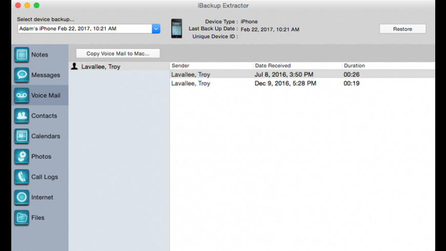 iBackup Extractor for Mac - review, screenshots
