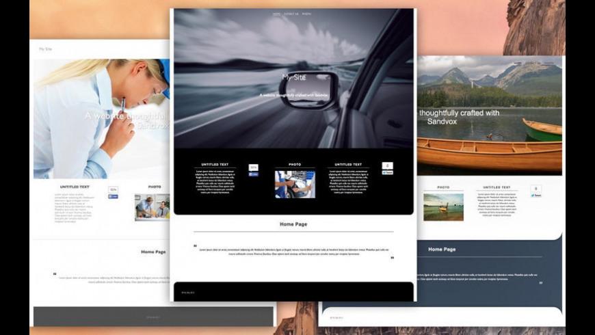 Theme Designs for Sandvox for Mac - review, screenshots