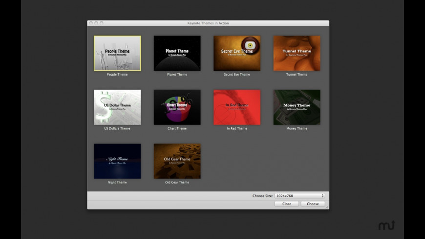 Video Themes for Keynote for Mac - review, screenshots