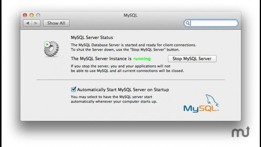 MySQL PrefPane for Mac - review, screenshots