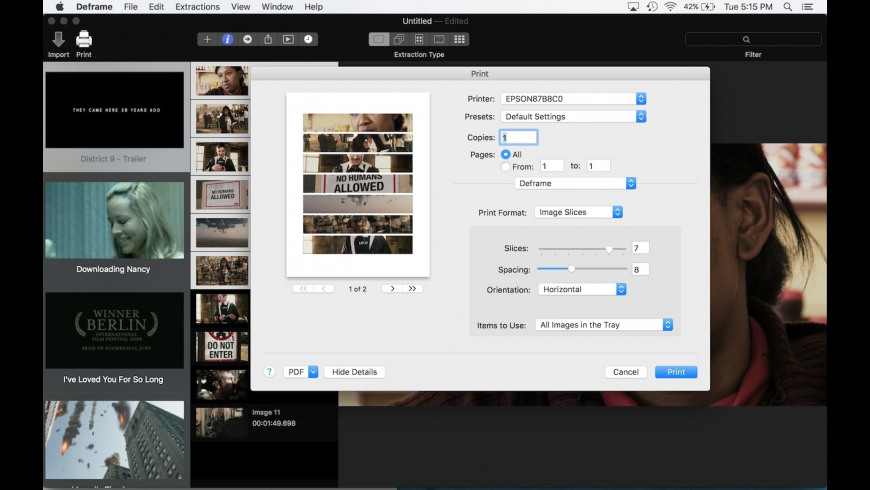 Deframe for Mac - review, screenshots