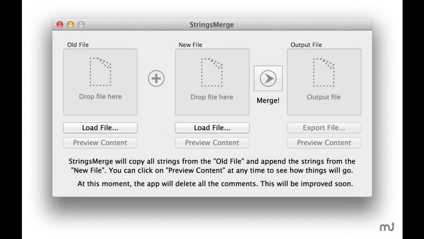 StringsMerge for Mac - review, screenshots