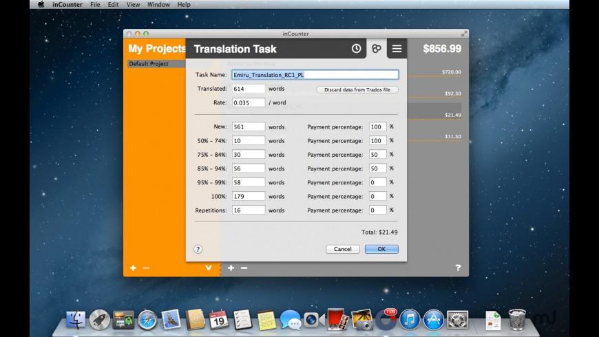 earnTracker for Mac - review, screenshots