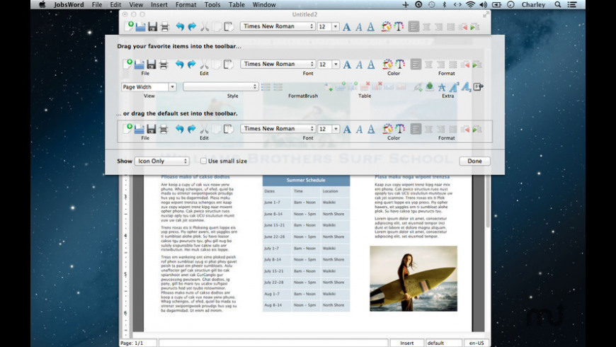 JobsWord for Mac - review, screenshots