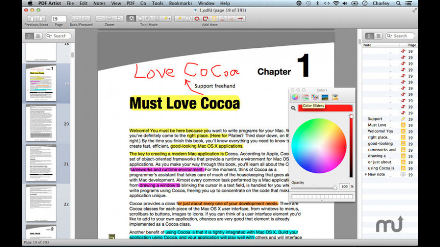 PDF Artist for Mac - review, screenshots
