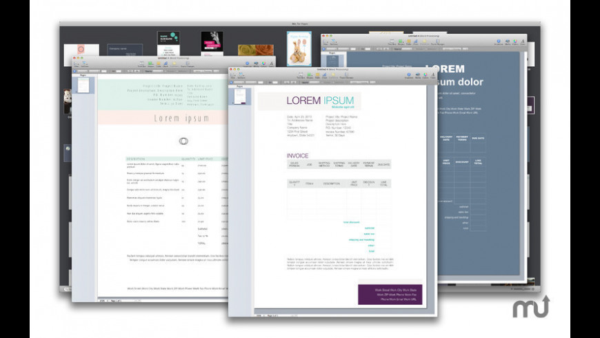 Templates for Pages 2017 for Mac - review, screenshots