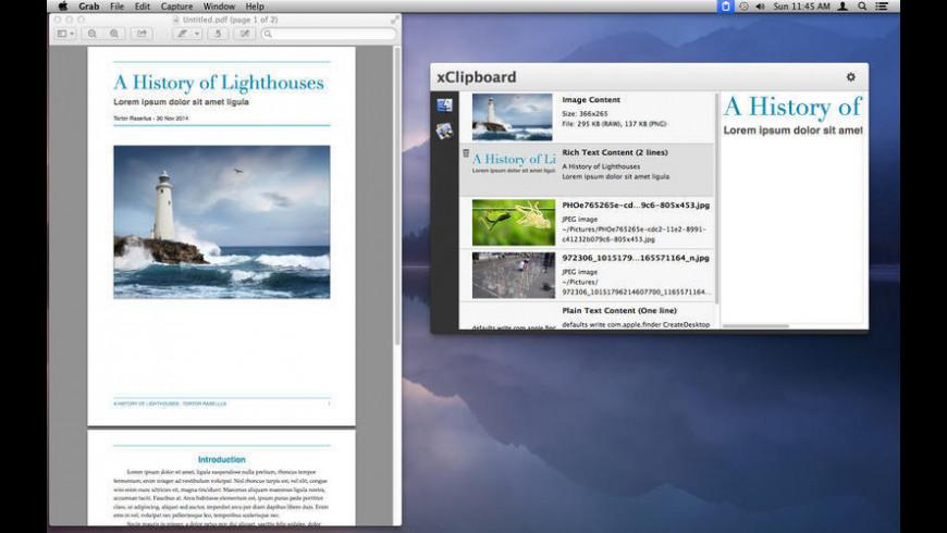 xClipboard for Mac - review, screenshots