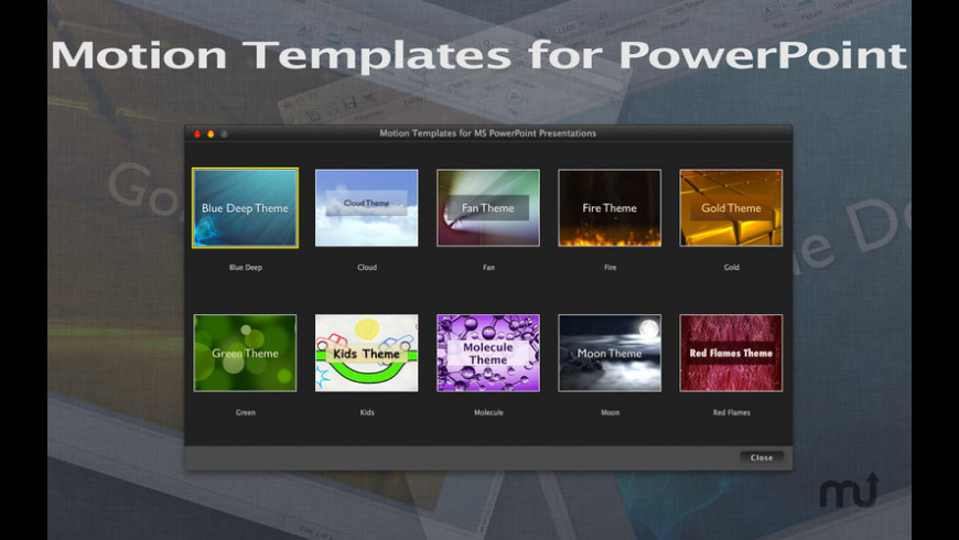 Motion Templates for MS PowerPoint for Mac - review, screenshots