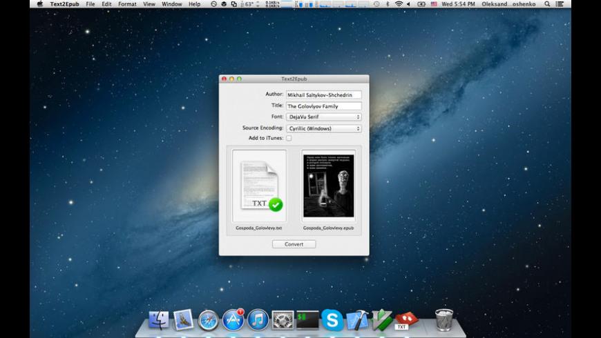 Text2Epub for Mac - review, screenshots