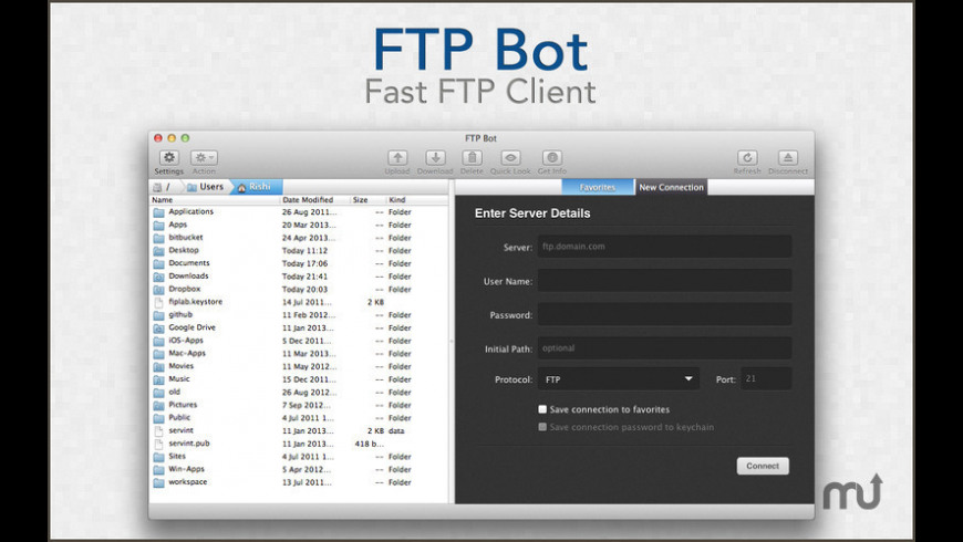 FTP Bot for Mac - review, screenshots