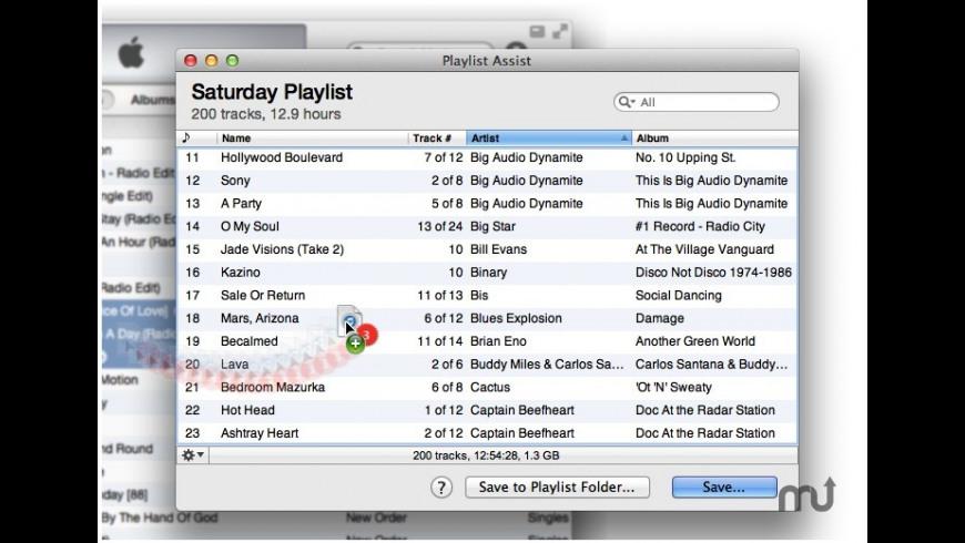 Playlist Assist for Mac - review, screenshots