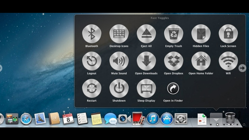 Fast Toggles for Mac - review, screenshots
