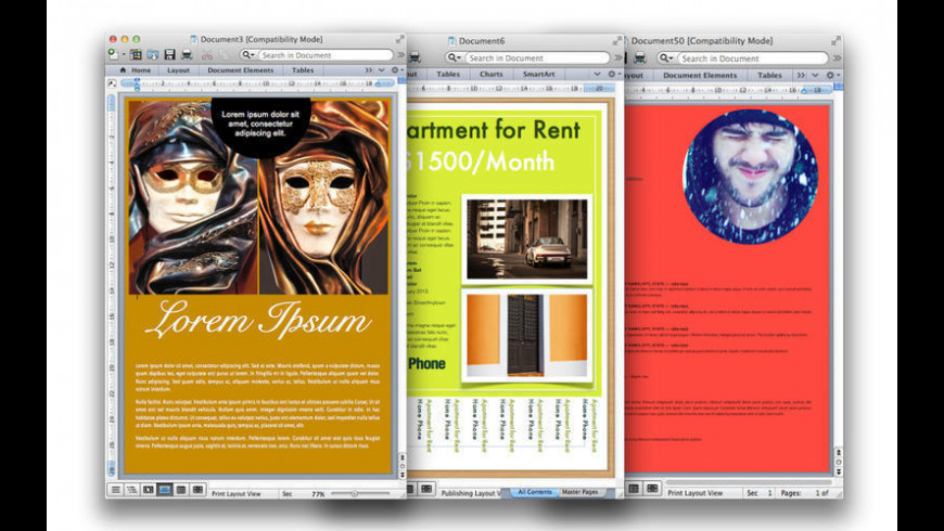 Templates for MS Word Mix for Mac - review, screenshots