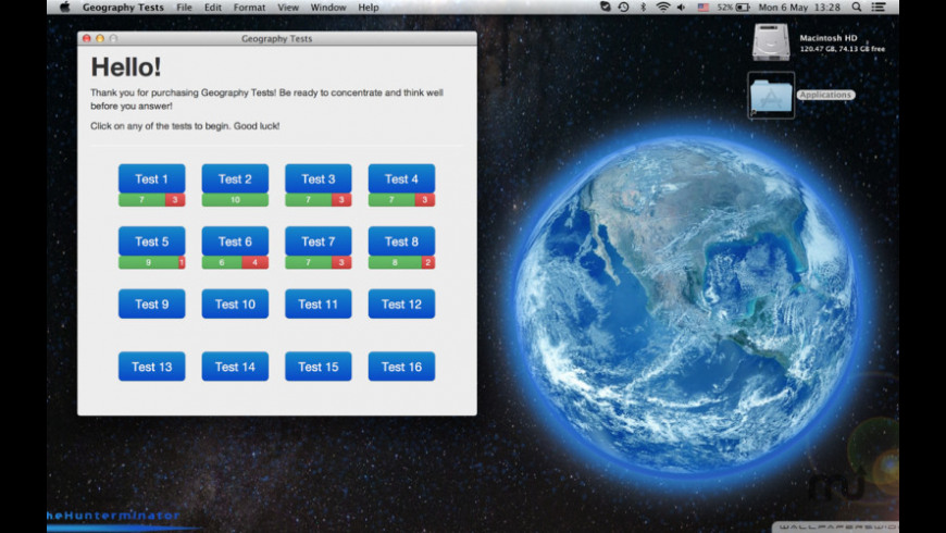 Geography Tests for Mac - review, screenshots