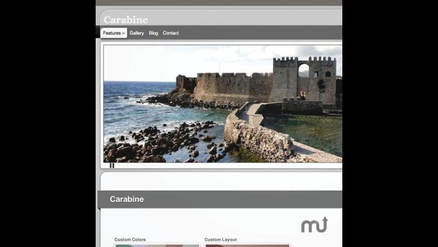 Carabine RapidWeaver Theme for Mac - review, screenshots