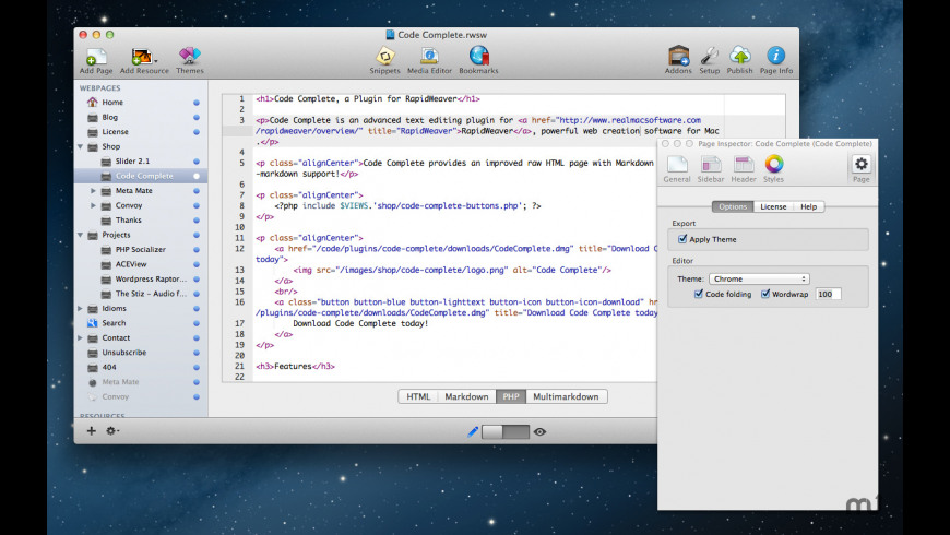 Code Complete Plugin for Mac - review, screenshots