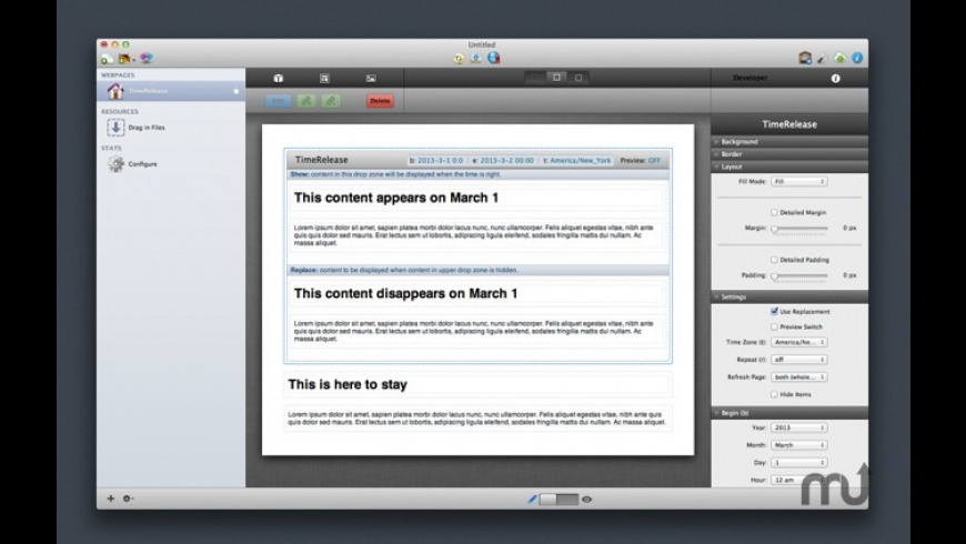 TimeRelease Stack for Mac - review, screenshots
