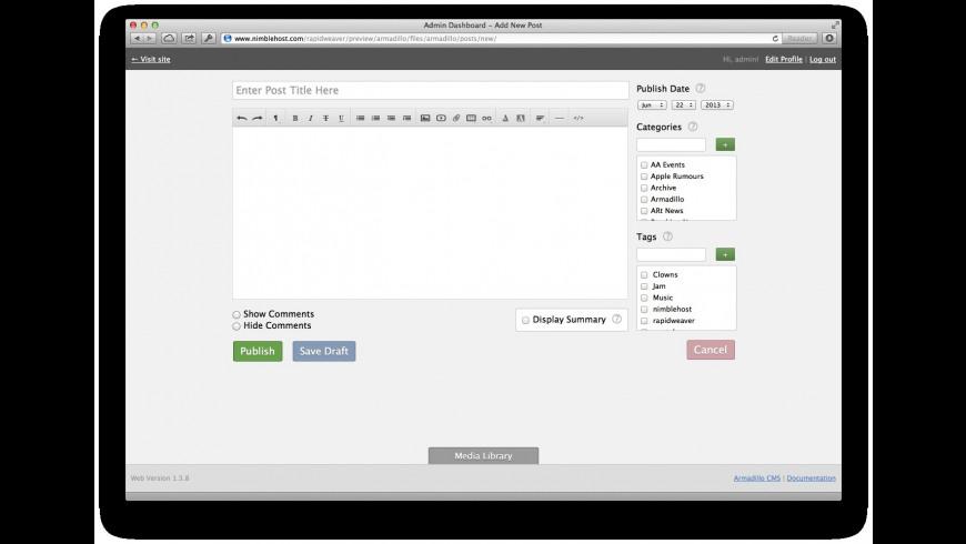 Armadillo for Mac - review, screenshots