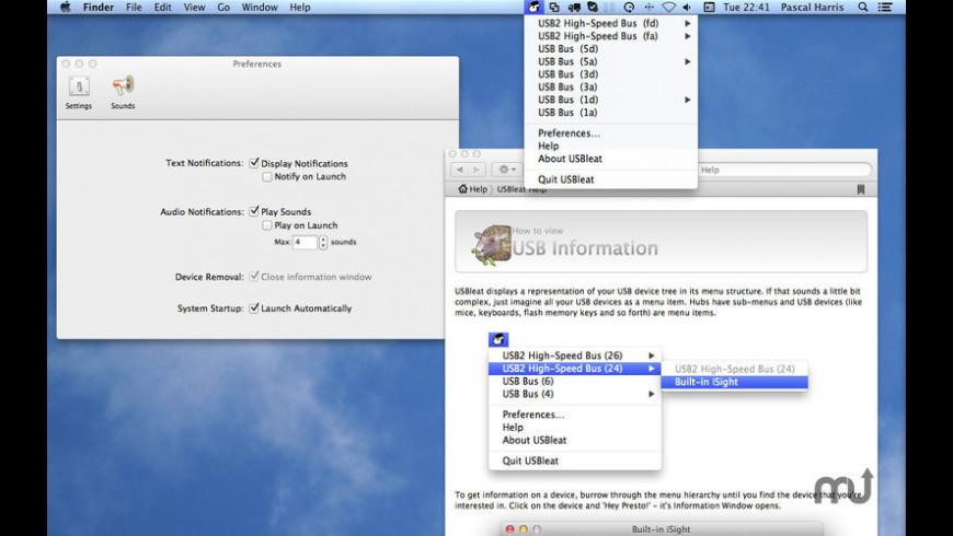 USBleat for Mac - review, screenshots