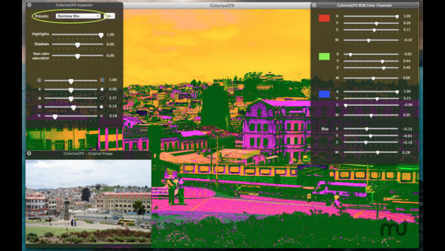 ColorizeGFX for Mac - review, screenshots