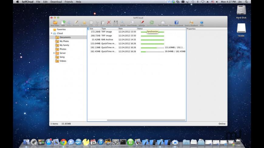 SelfCloud for Mac - review, screenshots