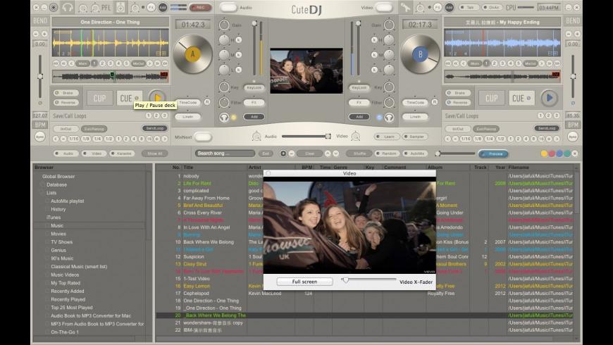 CuteDJ for Mac - review, screenshots