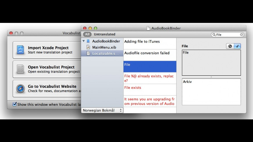 Vocabulist for Mac - review, screenshots