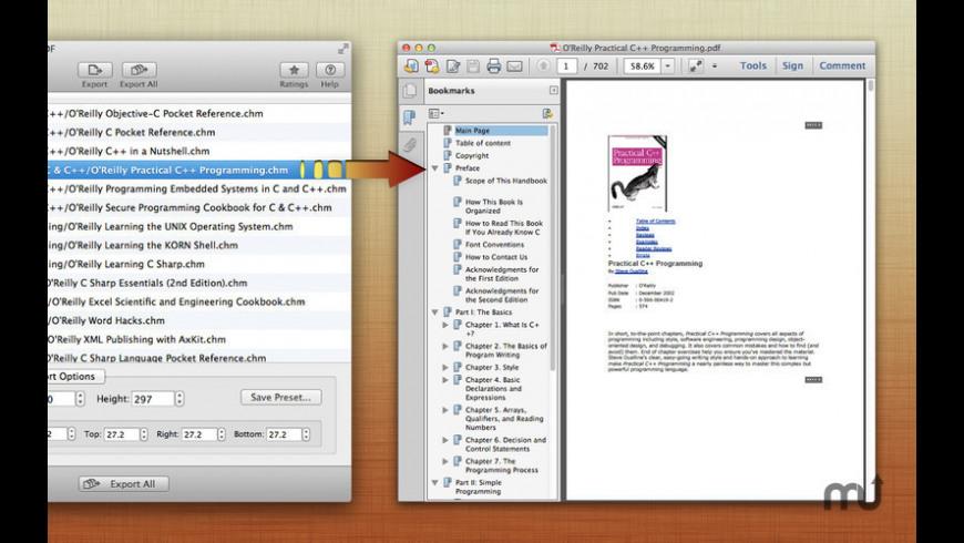 CHM to PDF for Mac - review, screenshots