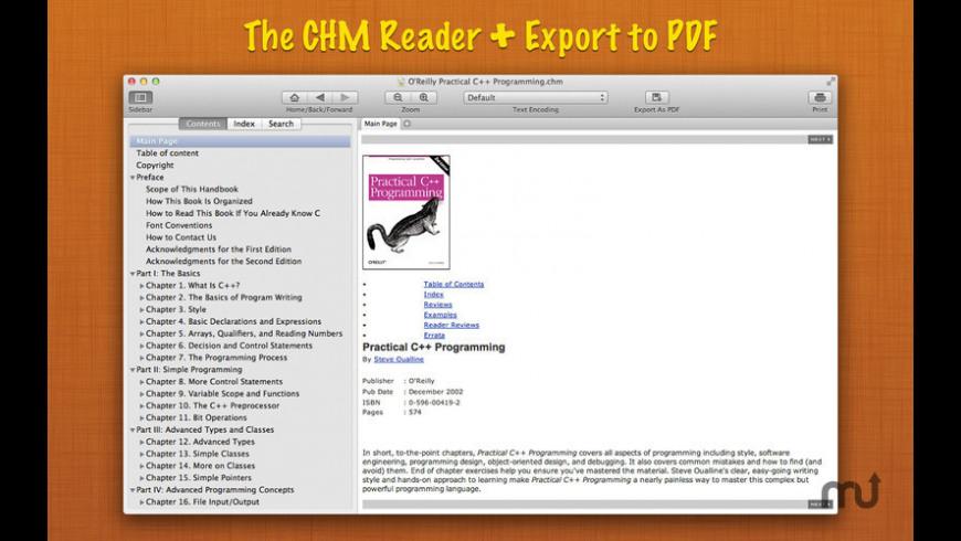 Read CHM+ for Mac - review, screenshots