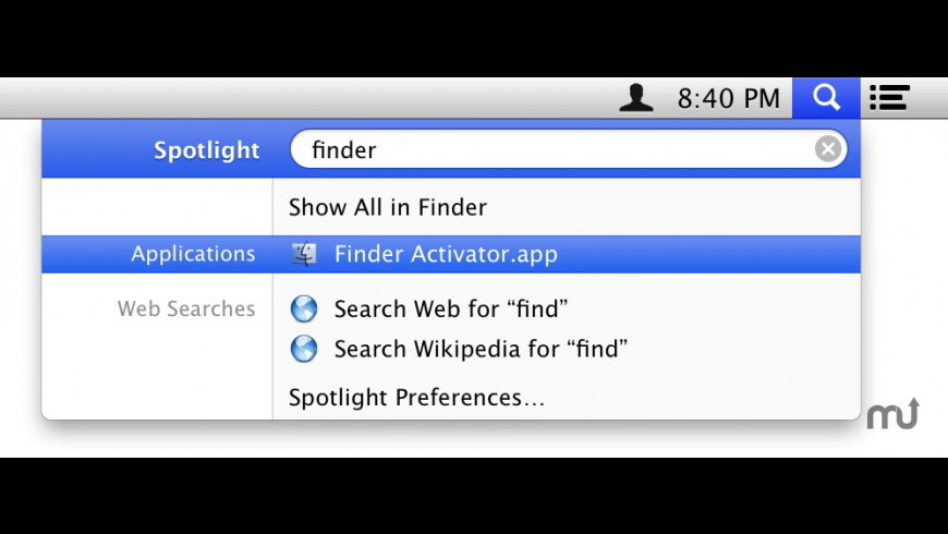 Finder Activator for Mac - review, screenshots