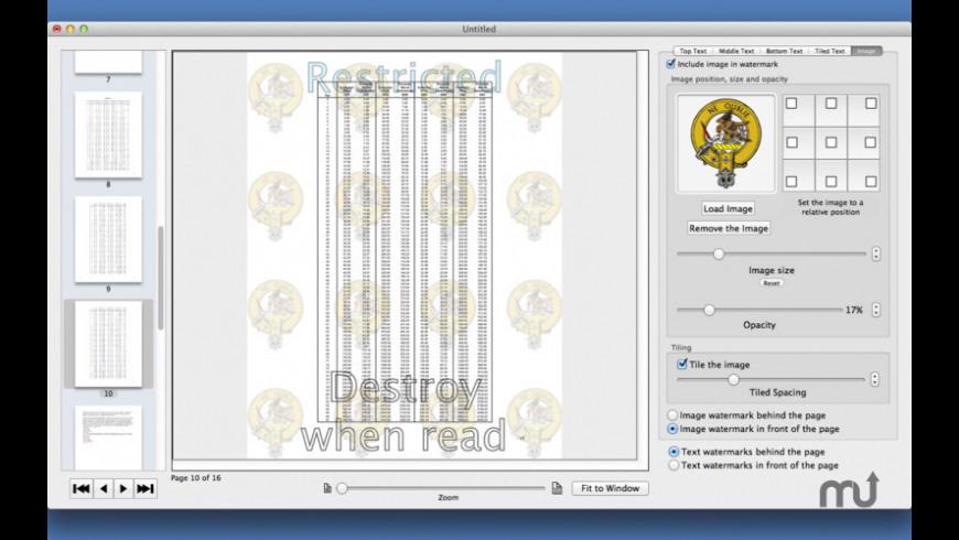 PDF Multi Watermarker for Mac - review, screenshots