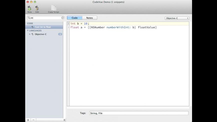 CodeVue for Mac - review, screenshots