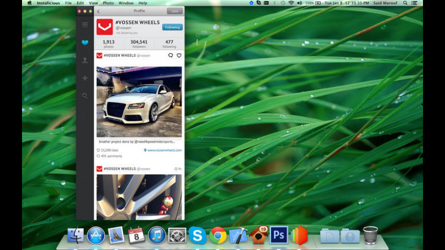 Instalicious for Mac - review, screenshots