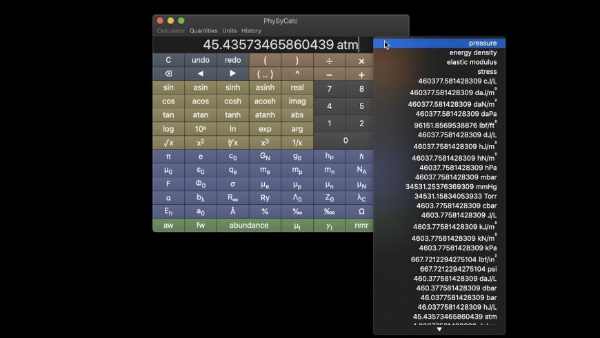 PhySyCalc for Mac - review, screenshots