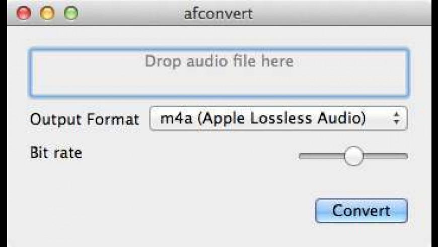 afconvert for Mac - review, screenshots