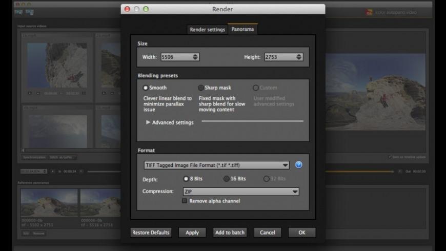 Autopano Video for Mac - review, screenshots