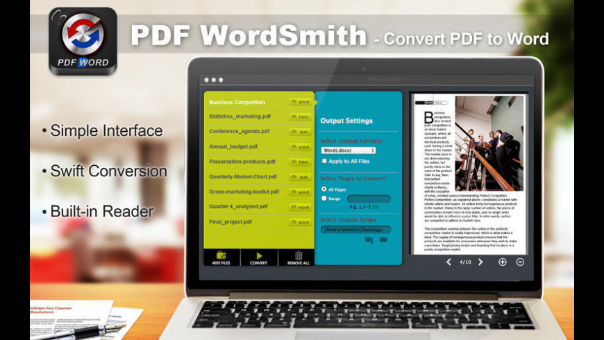 PDF WordSmith for Mac - review, screenshots
