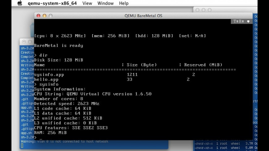 QEMU System for Mac - review, screenshots