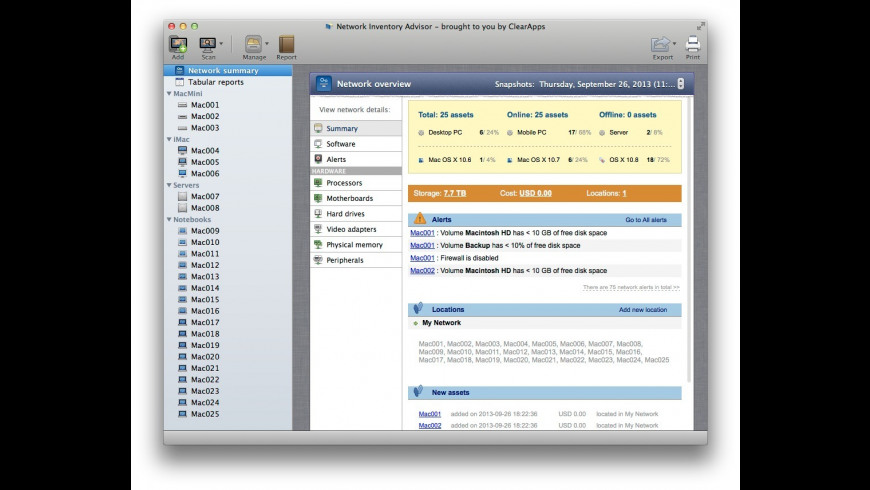 Network Inventory Advisor 1 1 Free Download for Mac | MacUpdate