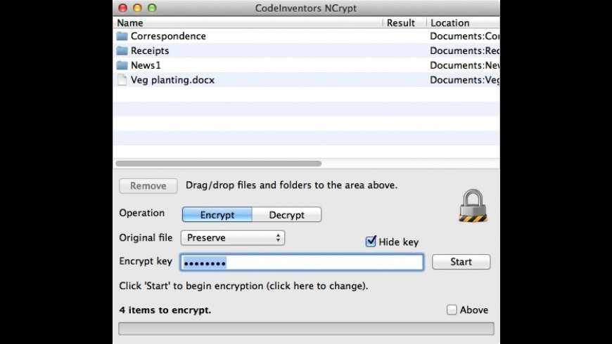 NCrypt for Mac - review, screenshots
