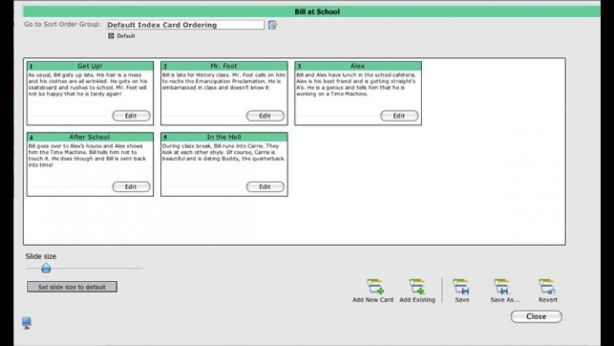 StoryO for Mac - review, screenshots