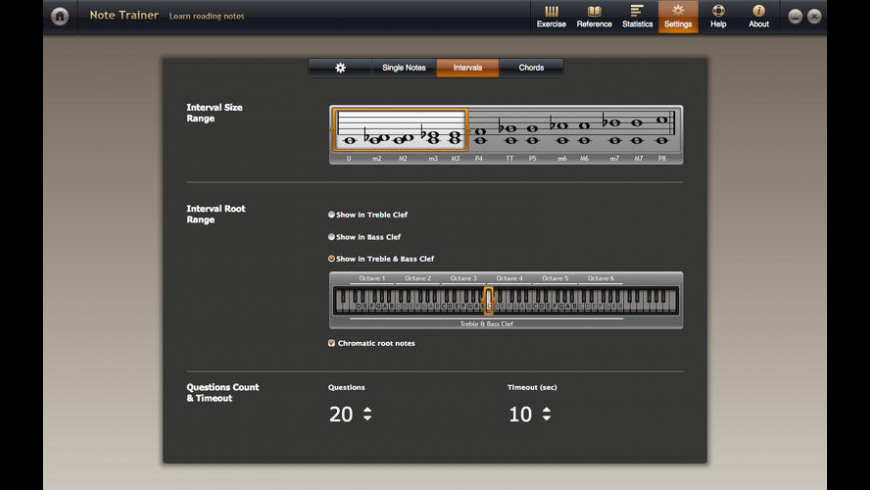 Solfeggio Studio for Piano for Mac - review, screenshots