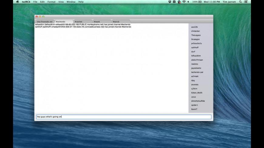 twIRCk for Mac - review, screenshots