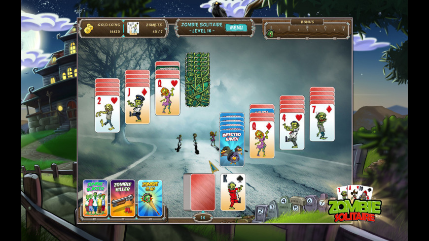 Zombie Solitaire for Mac - review, screenshots