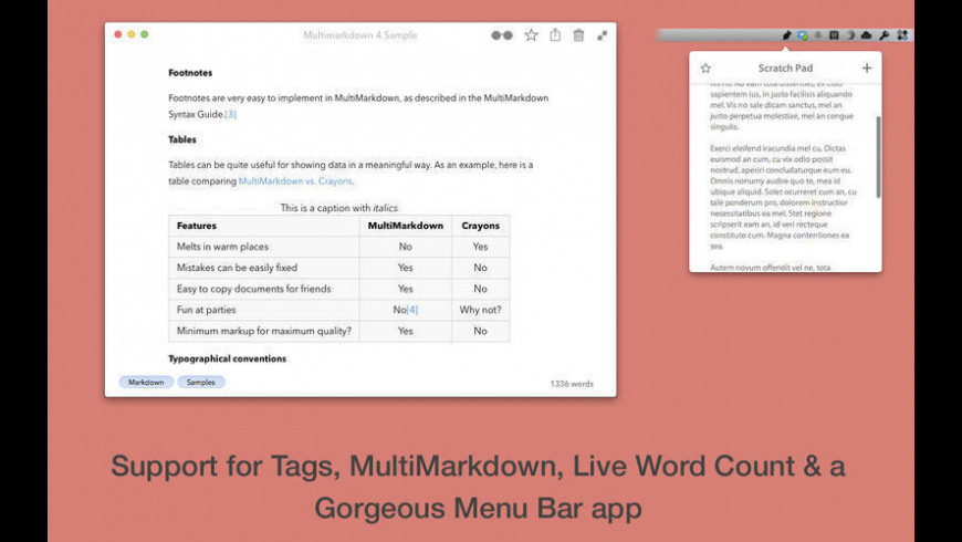 Write for Mac - review, screenshots
