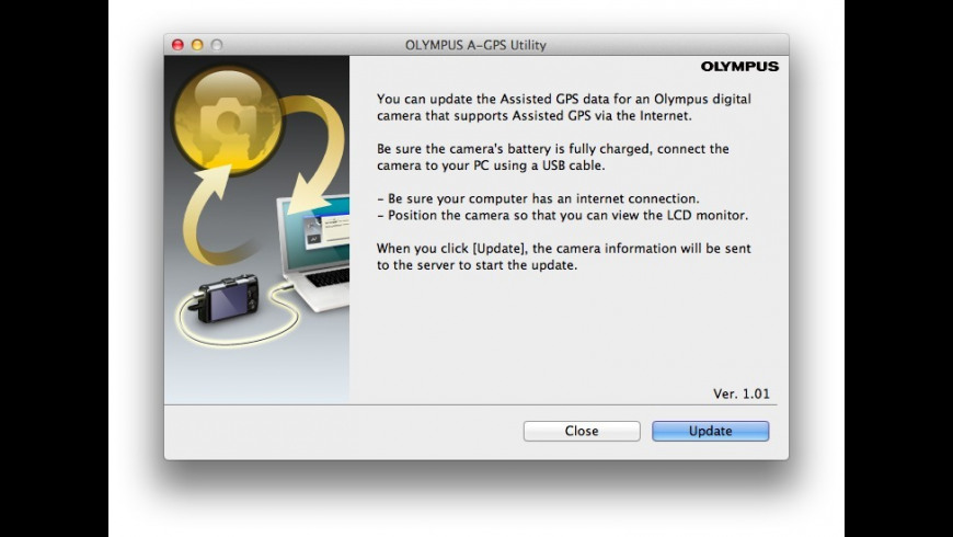 Olympus A-GPS Utility for Mac - review, screenshots