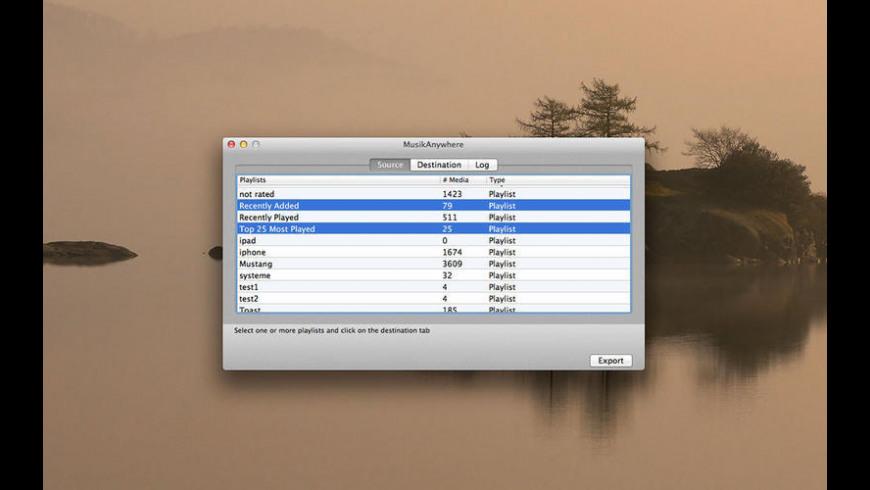 MusikAnywhere for Mac - review, screenshots
