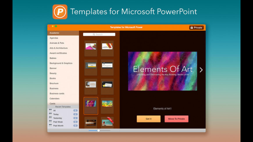 Templates for Microsoft PowerPoint for Mac - review, screenshots