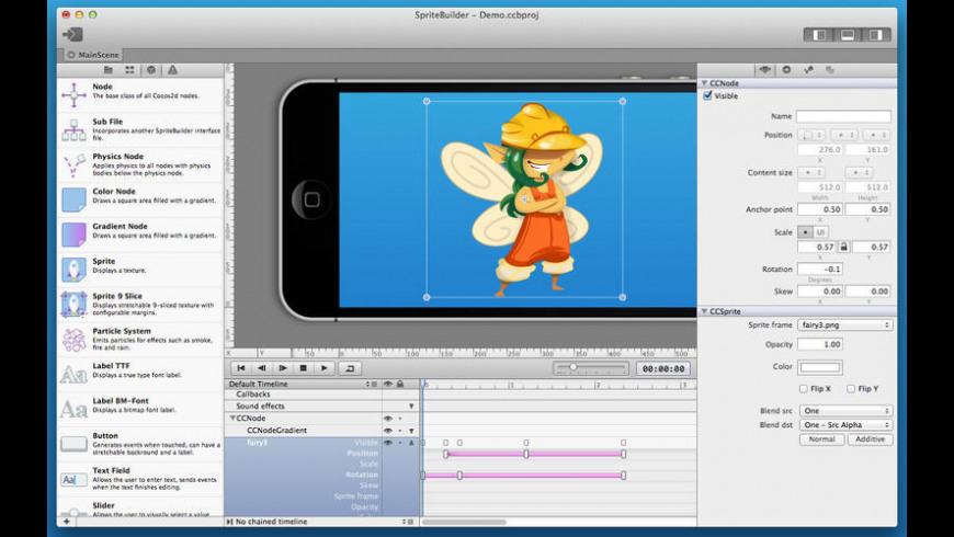 SpriteBuilder for Mac - review, screenshots